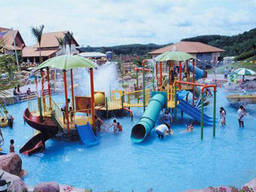 Your kids will love an adventure playground with pools, fountains, and waterslides!