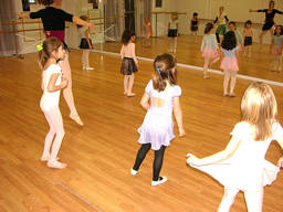 Kids enjoying a ballet lessons