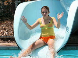 Your kids will have a blast on a waterslide!