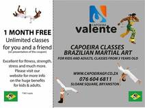 Free Month of Capoeira Martial Art Training Bryanston West Other Martial Arts Classes & Lessons _small