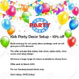 Kids Party Decor - 10% off Sandton Party Suppliers _small