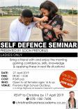 Self-defence seminar - For Women! Waterkloof Heights Karate Clubs _small