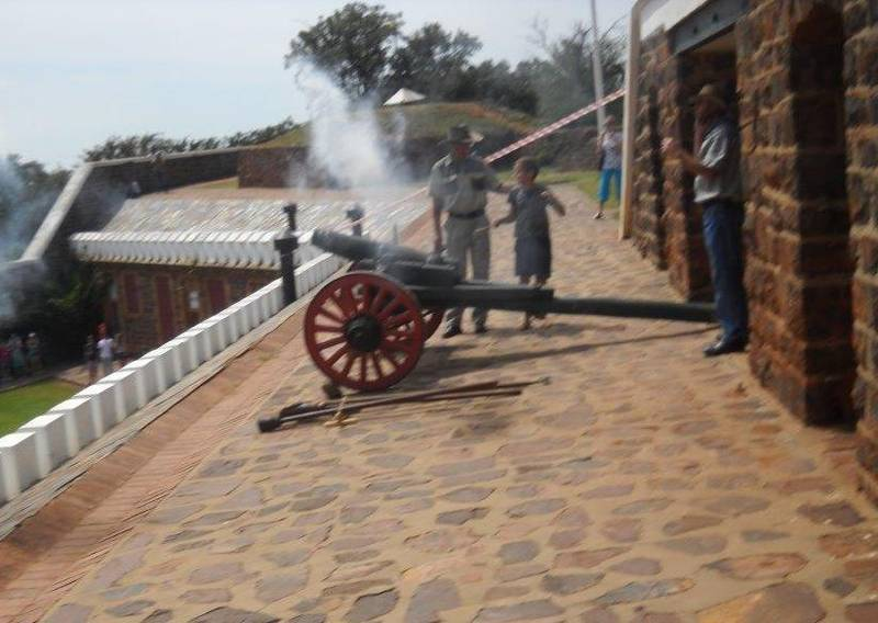 Our cannon Susanna is fired at 12:00 every first Friday of the month