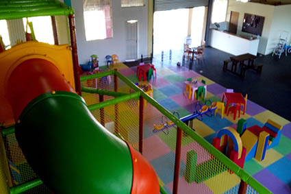 Indoor playground with jungle gym