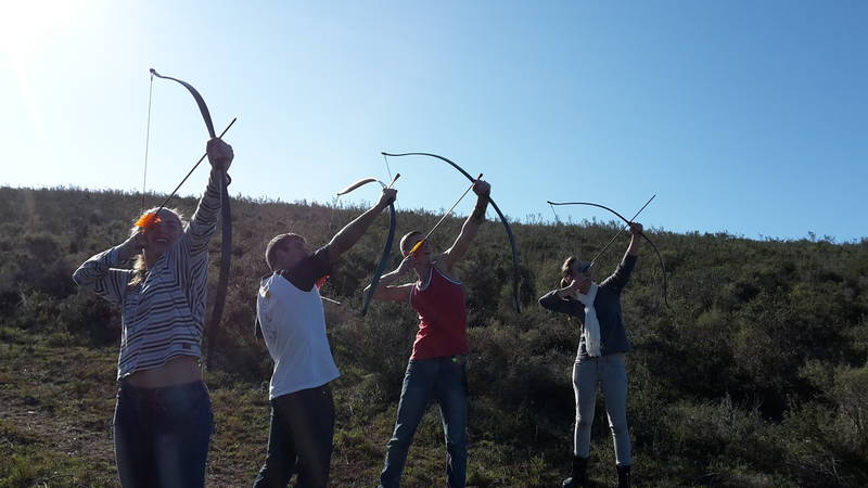 Aerial archery always fun!