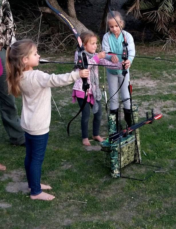 Archery lessons for the kiddies