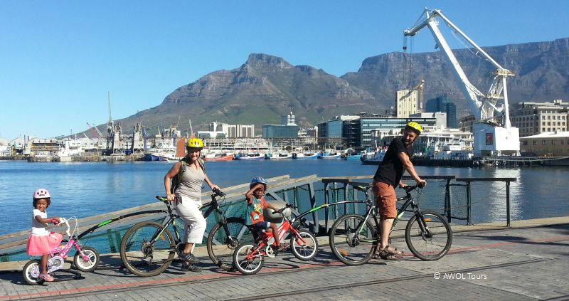 Kiddies Bicycle trailers at the V&A Waterfront
