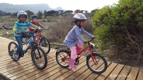 Kids bicycle tour with treaure hunt in Tokai Cape Town