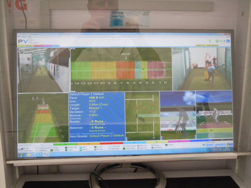 Bowling analysis using PitchVision technology.
