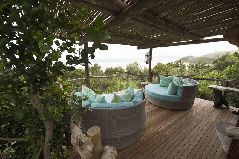 Newly refurbished relaxation area at the Umngazi Spa