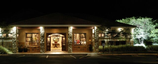 Entrance of Lodge - Night View