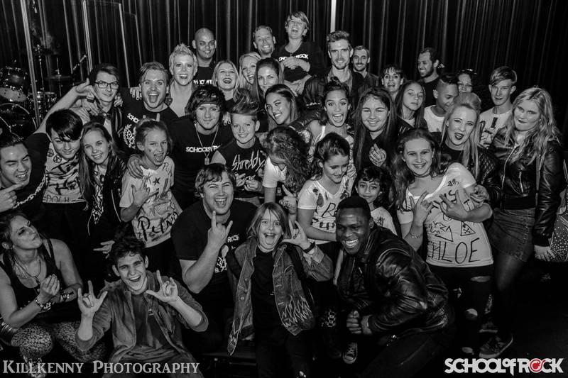 School of Rock group programme students
