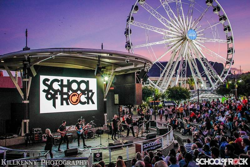 School of Rock performing at V&A Waterfront Amphitheatre