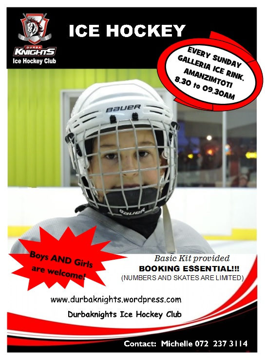 Try out Ice Hockey - First lesson is FREE!!
