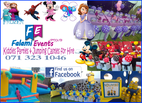 Falami Events - Kids Parties and Jumping castles for hire