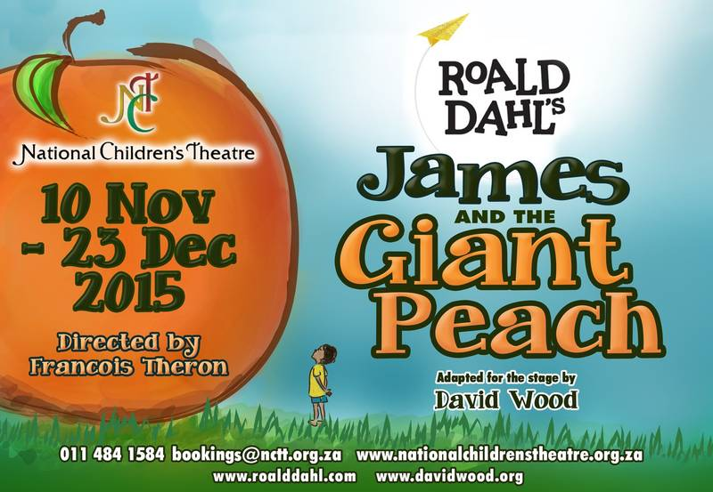 It's exciting, magical, heartwarming and sure to spark a child's imagination!  A special delicious treat awaits NCT audiences as Roald Dahl's classic James and the Giant Peach is brought to life during December school holidays. Ticket Prices: R110 adults