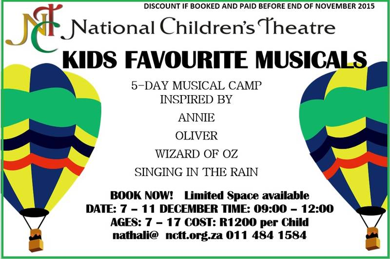 December Holiday Camp 1: THEME - Kids Favourite Musicals