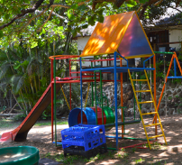Our outside play area where children can play and socialize with others.