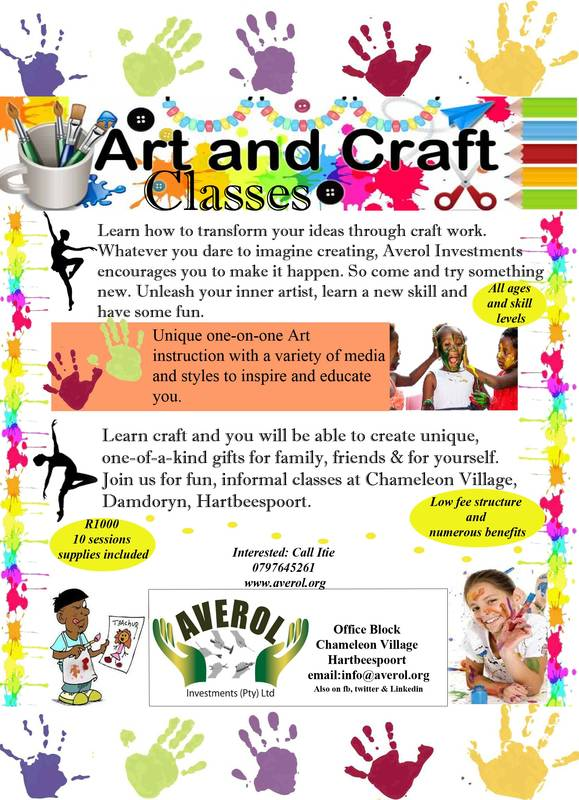 Registration for community art & craft classes