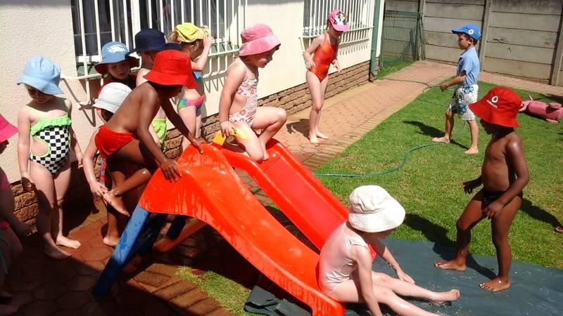 Waterfun in the playground