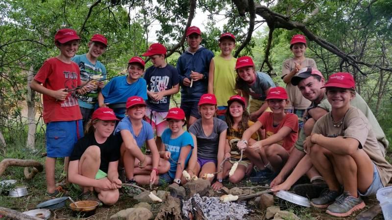 Making a safe camp fire