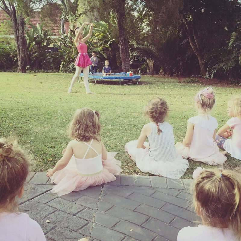 These little ones loved seeing a real ballerina dance!